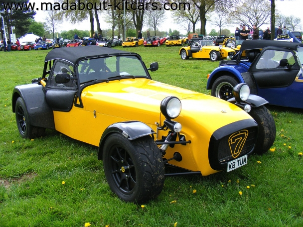Caterham cars - Super 7. Nice colour scheme