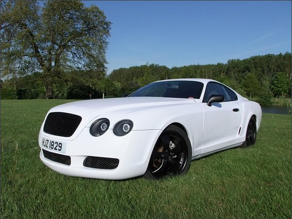 Tribute Automotive GT Coupe body conversion inspired by Bentley Continental GT