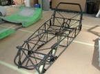 DJ sportscars - Rush. Rush chassis at factory