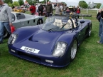 Ultima Sports Ltd - Can-Am. Blue Can-Am on club stand