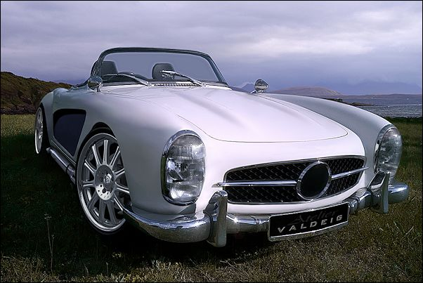 Wide bodied Mercedes 300SL Roadster concept
